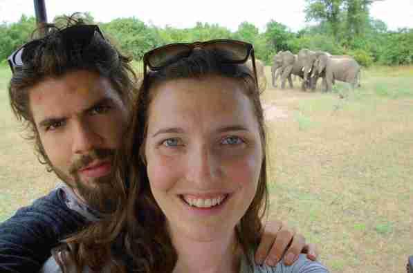 Safari Elefantenselfie